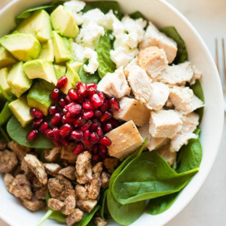 Leftover Turkey Salad With Cranberry Vinaigrette